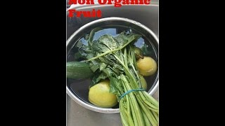 How To Wash Non Organic Fruit & Veg