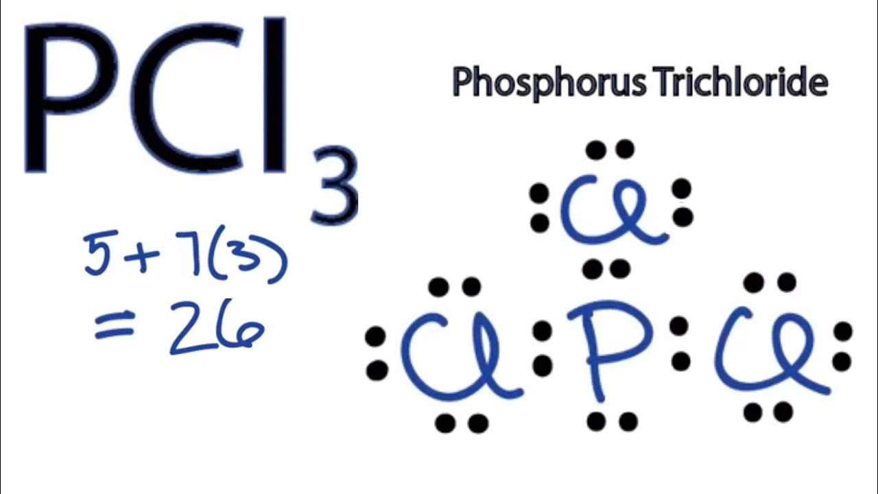 pcl3 lewis structure how to draw the lewis structure for pcl3 phosphorus trichloride  [ 1280 x 720 Pixel ]