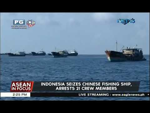 Indonesia seizes Chinese fishing ship, arrests 21 crew members of various nationalities