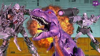 Megatron VS Megatron VS Megatron!!! Transformers Stop Motion Animation Battle