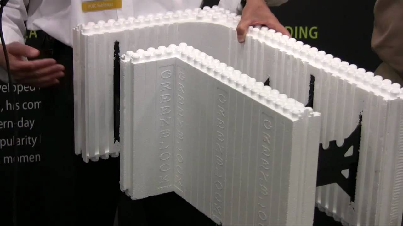 Greenblock insulated concrete forms youtube for Foam basement forms