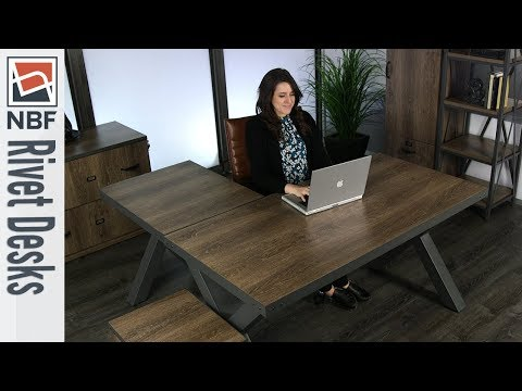 Office Desk | NBF Signature Series Rivet Desks | National Business Furniture