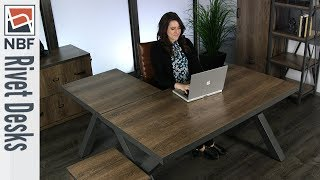 Office Desk | NBF Signature Series Rivet Desks | National Business Furniture