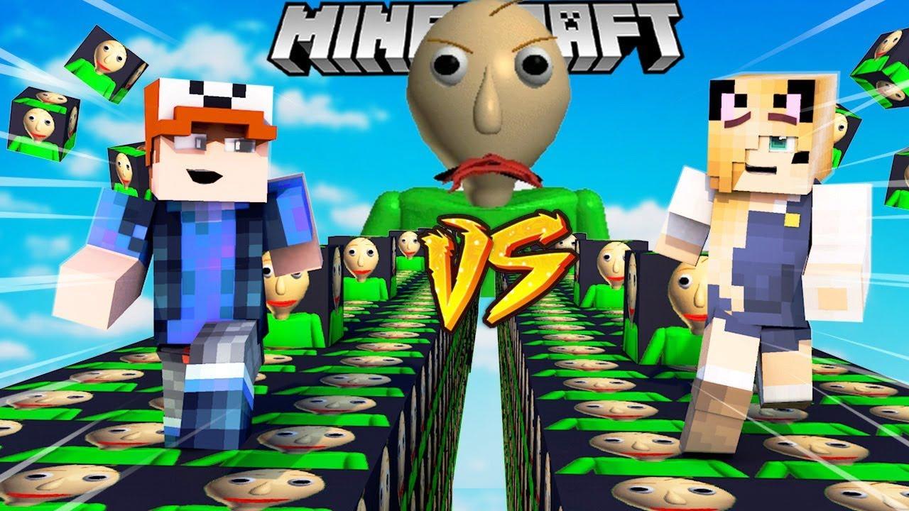 Szalony Wyścig Baldi Lucky Blocki Minecraft Lucky Block Race