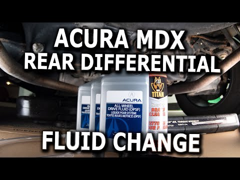 Acura MDX Rear Differential Fluid Change DIY
