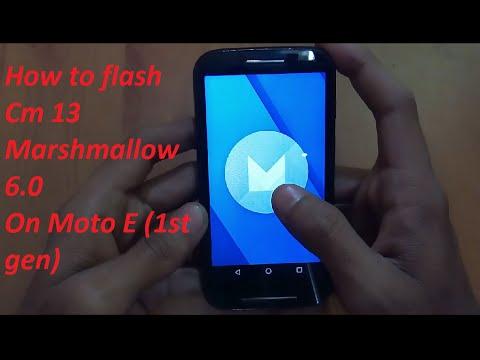 How to flash OFFICIAL cyanogenmod 13 Marshmallow 6.0 in Moto E 1st gen