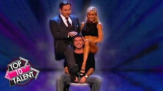 TOP 10 Simon Cowell Gets FLIRTY On Got Talent, X Factor and Idol!
