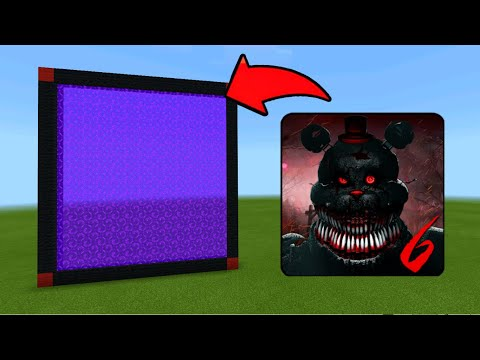 Minecraft Pe How To Make a Portal To Five Nights At Freddys 6 Dimension  Mcpe Portal To Fnaf 6!!!