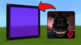 Minecraft Pe How To Make a Portal To Five Nights At Freddy's 6 Dimension - Mcpe Portal To Fnaf 6!!!