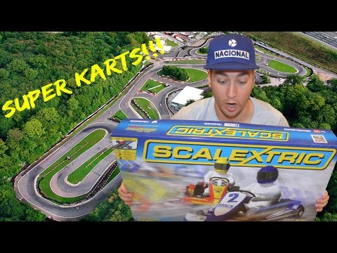 SCALEXTRIC SUPER KARTS UNBOXING, REVIEW AND RACING!!
