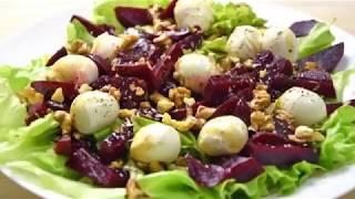 Салат со свёклой и моцареллой