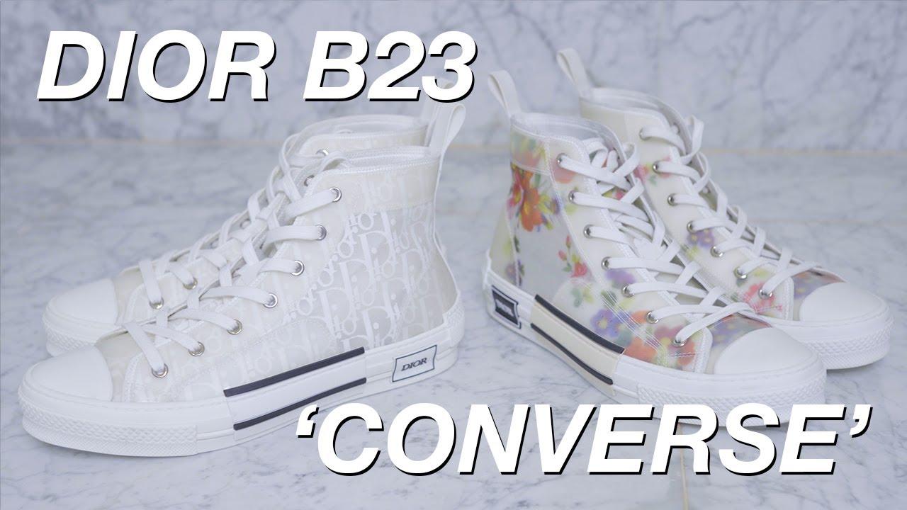 Dior B23 Oblique - Kim Jones' Converse