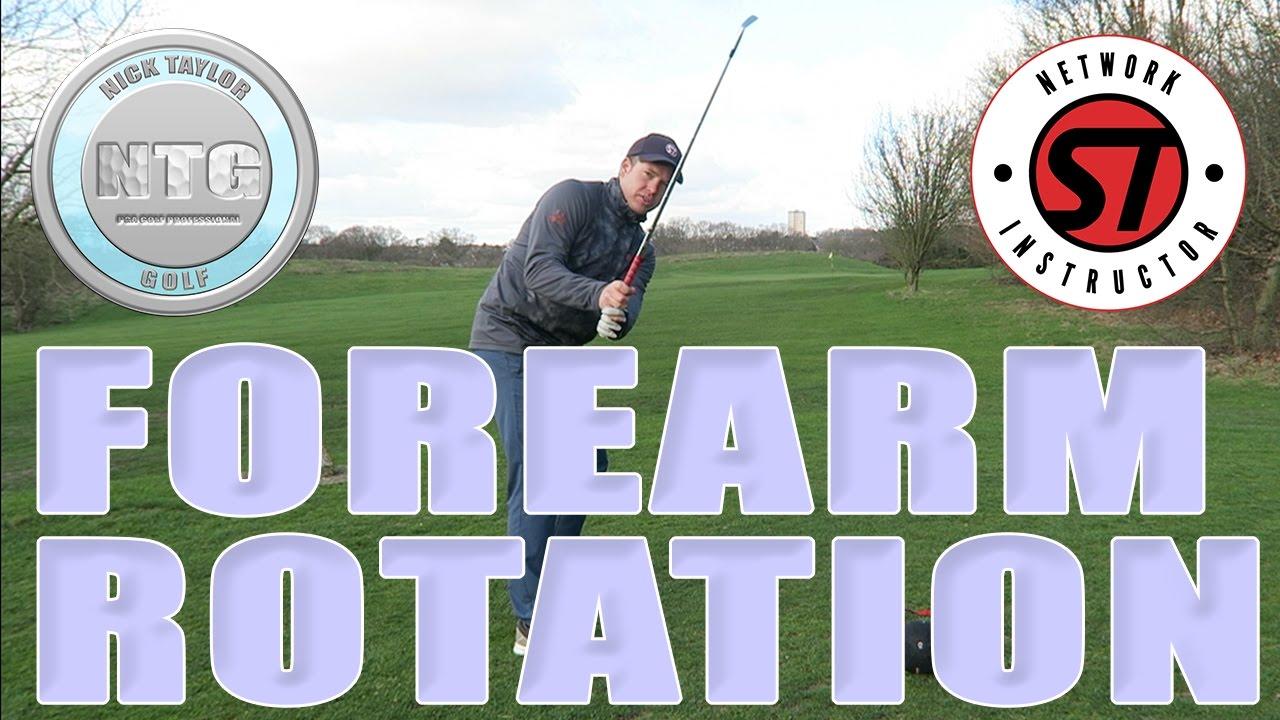 Forearm Rotation Golf Tips Lesson 40 Youtube