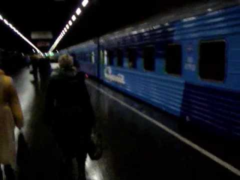 Night train from Saint Petersburg to Moscow