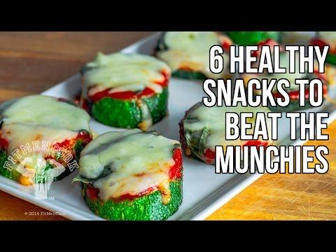 6 Healthy Snacks to Beat the Munchies / 6 Meriendas para Frenar Antojos