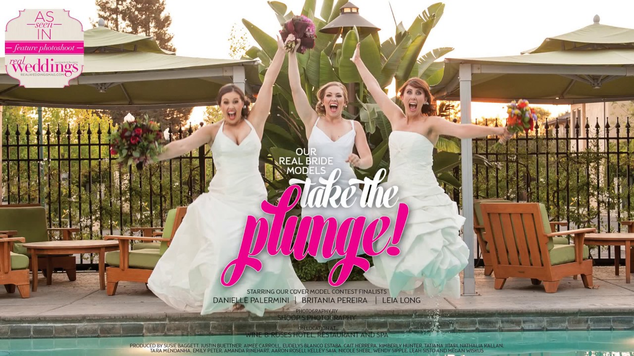Real Weddings Youtube: Sacramento Wedding Inspiration: Take The Plunge {The