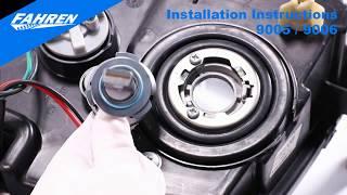 Fahren 9005/9006/HB3/H10/HB4 LED Bulb Installation Guide