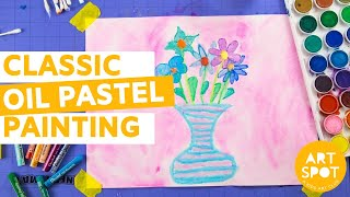 Painting For Kids: Classic Oil Pastel Painting Technique