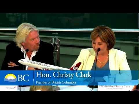 Virgin's Richard Branson makes lewd suggestions to BC Premier Christie Clark