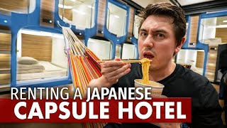 I Rented an ENTIRE Japanese Capsule Hotel | $500 Room Tour