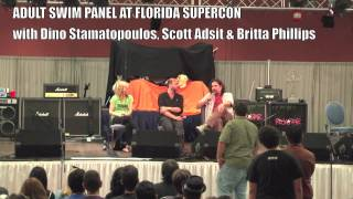 Q&A With Dino Stamatopoulos, Scott Adsit, & Britta Phillips at Florida Supercon - July 2012