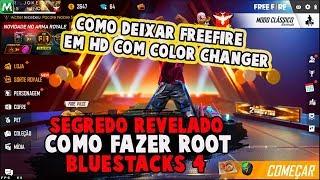 SEGREDO REVELADO?! COMO FAZER ROOT NO BLUESTACKS 4 E DEIXAR FREEFIRE EM HD USANDO COLOR CHARGER