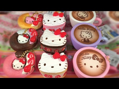 Sanrio Hello Kitty Lovely Sweets Cafe Squishies Kawaii