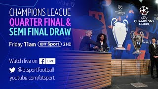 Full Champions League Quarter-Final and Semi-Final Draw Video