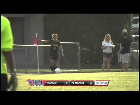 #7 Chelsea Drennan of TL Hanna scores a goal at the 2012 SCHSL 4A Girls Soccer Final