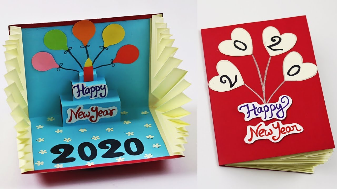 3D Pop Up New Year Greeting Card 2020 | How to Make Happy ...