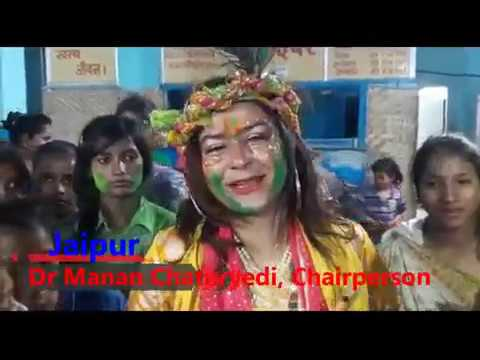 Herbal Holi With Children / Dr Manan Chaturvedi / Chairperson / Rajsthan Child Commission / Jaipur