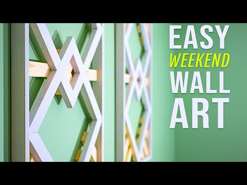 How To Make Geometric Wood Wall Art | Easy Woodworking Projects