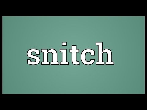 Snitch Meaning