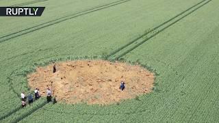 فيديو.. انفجار قنبلة تعود للحرب العالمية الثانية بإحدى المزارع الألمانية