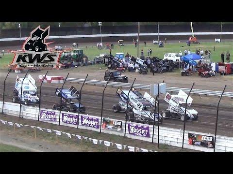 KWS 410 Sprints - HEAT ONE 6-27-15 Calistoga Speedway
