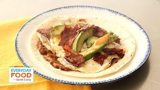 Bacon And Egg Huevos Rancheros Wrap - Everyday Food With Sarah Carey