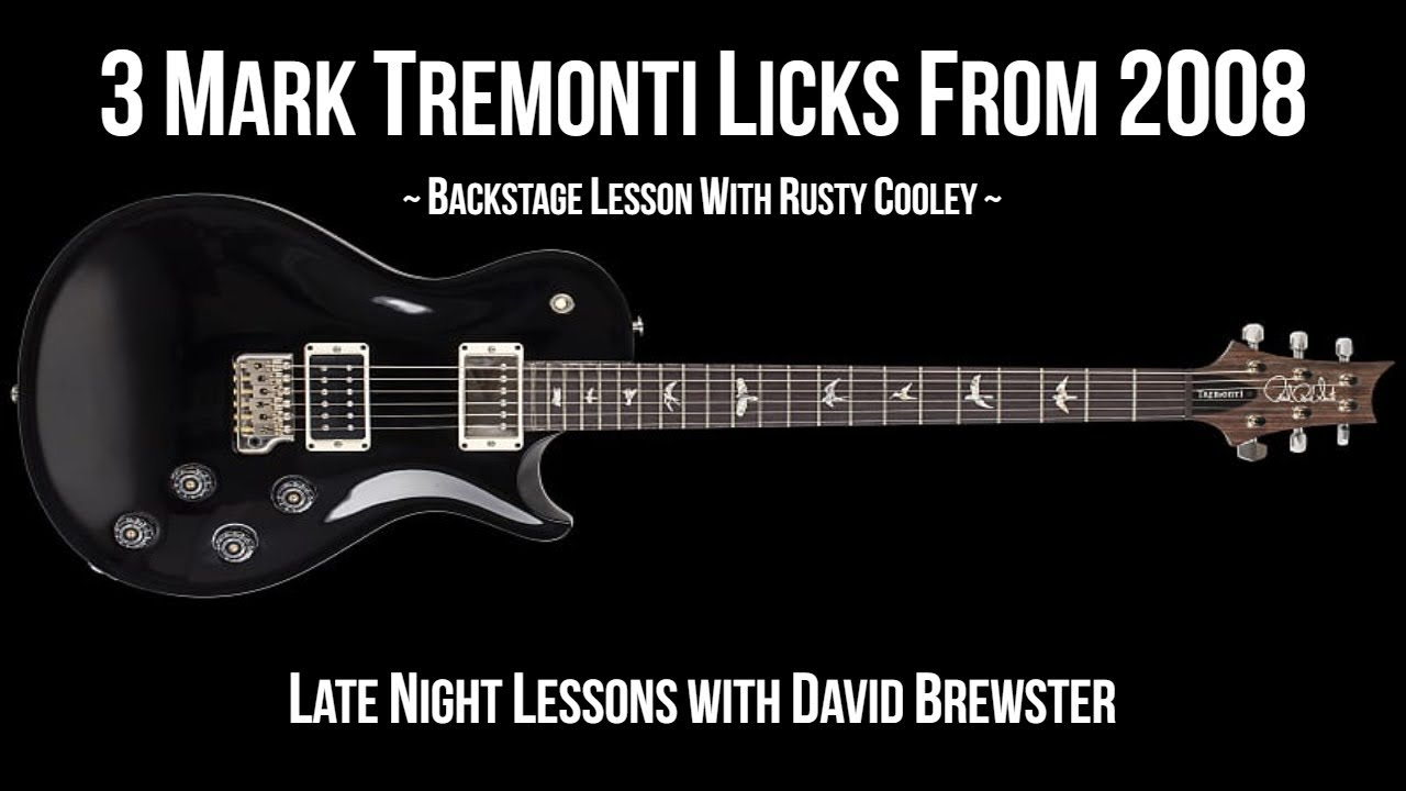 3 Mark Tremonti Licks From 2008