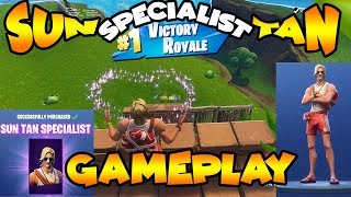 Sun Tan Specialist Gameplay Before you Buy *NEW SKIN IN FORTNITE*
