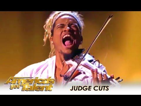Brian King Joseph: SENSATIONAL Electric Violinist WOWS! | America's Got Talent 2018