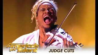 Brian King Joseph: SENSATIONAL Electric Violinist WOWS! | America's Got Talent 2018