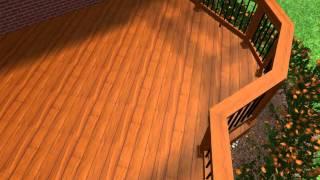 Rochester Hills Michigan deck & patio design idea