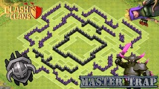 Clash Of Clans TH8 Farming Base - Master Trap
