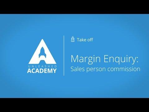 Stock Management - Margin Enquiry: Sales person commission