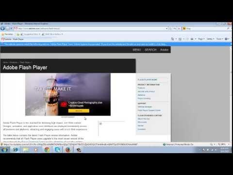 Adobe Flash Player Test - YouTube