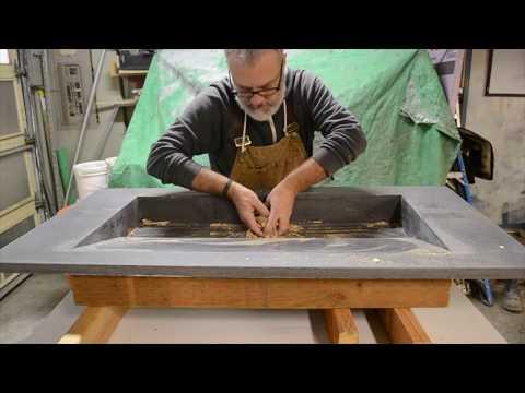 Custom GFRC sink fabrication