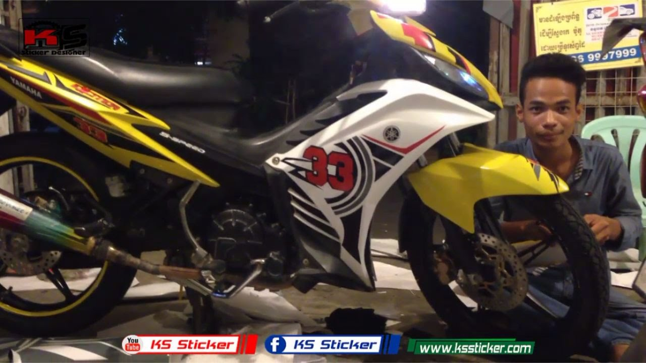 Yamaha sniper lc135 design for stickers