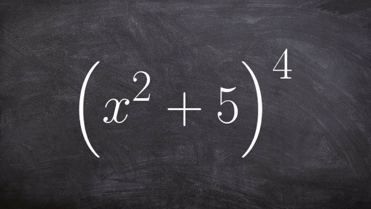 Using binomial expansion to expand a binomial to the fourth power