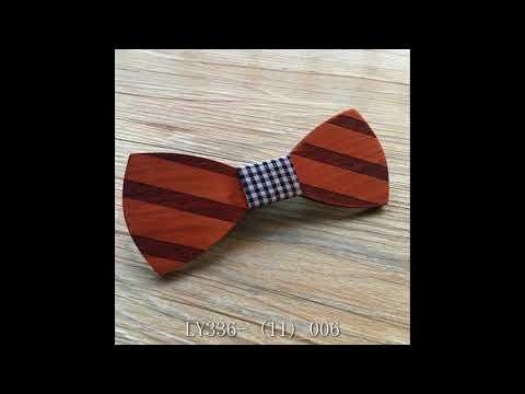 Groomsman wedding Walnut gray Wood bow tie Wooden Bowtie