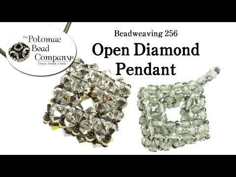 Make an Open Diamond Beaded Pendant