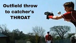 Scary baseball Injury to throat